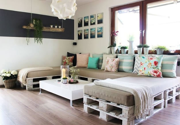 Recicla y decora con palets: 29 ideas imperdibles