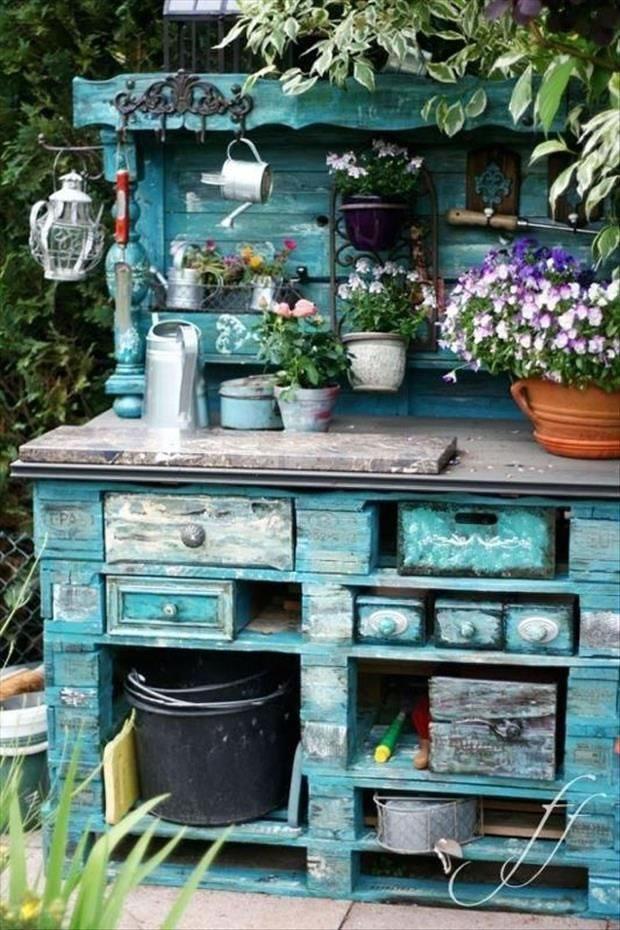 Recicla y decora con palets 29 ideas imperdibles - Muebles exterior palets ...