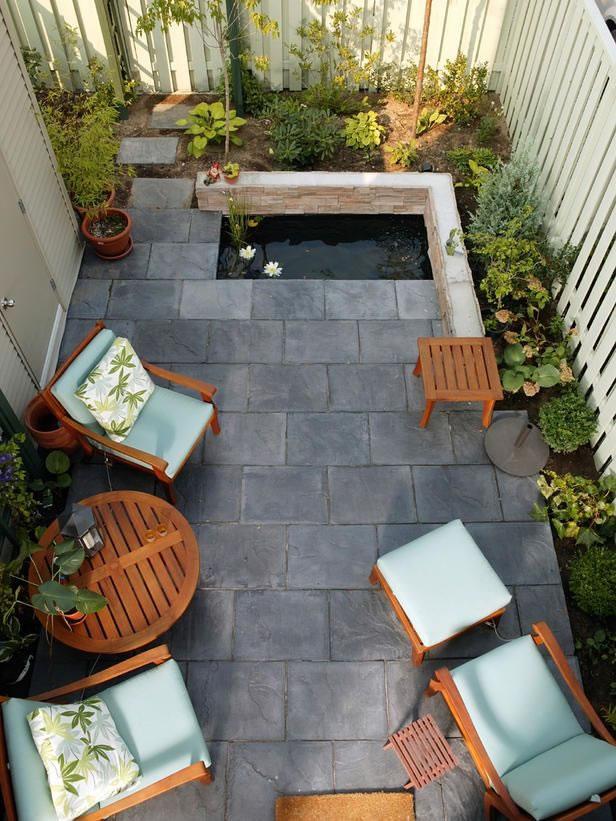 Patios y balcones peque os muy acogedores - Decoracion de patios exteriores pequenos ...