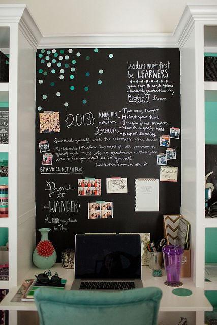 20 propuestas para decorar con pintura pizarra