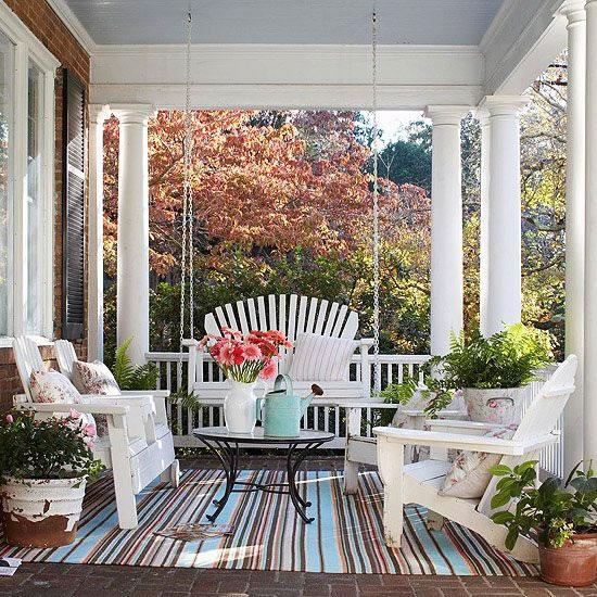Ideas porche 10 gu a para decorar - Ideas para decorar porche entrada ...