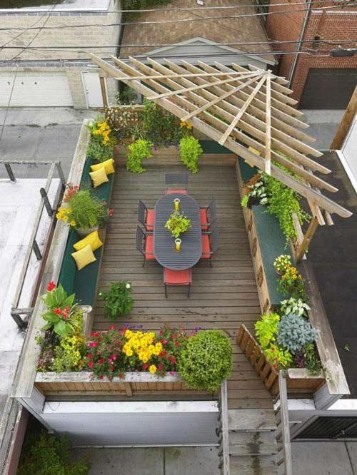 C mo decorar y aprovechar tu terraza - Jardineras para terrazas ...