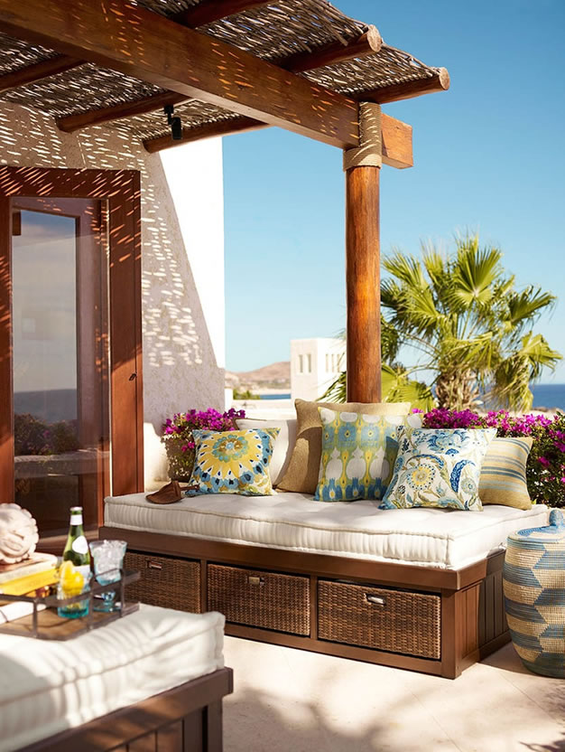 C mo decorar y aprovechar tu terraza - Decorar paredes de terrazas ...