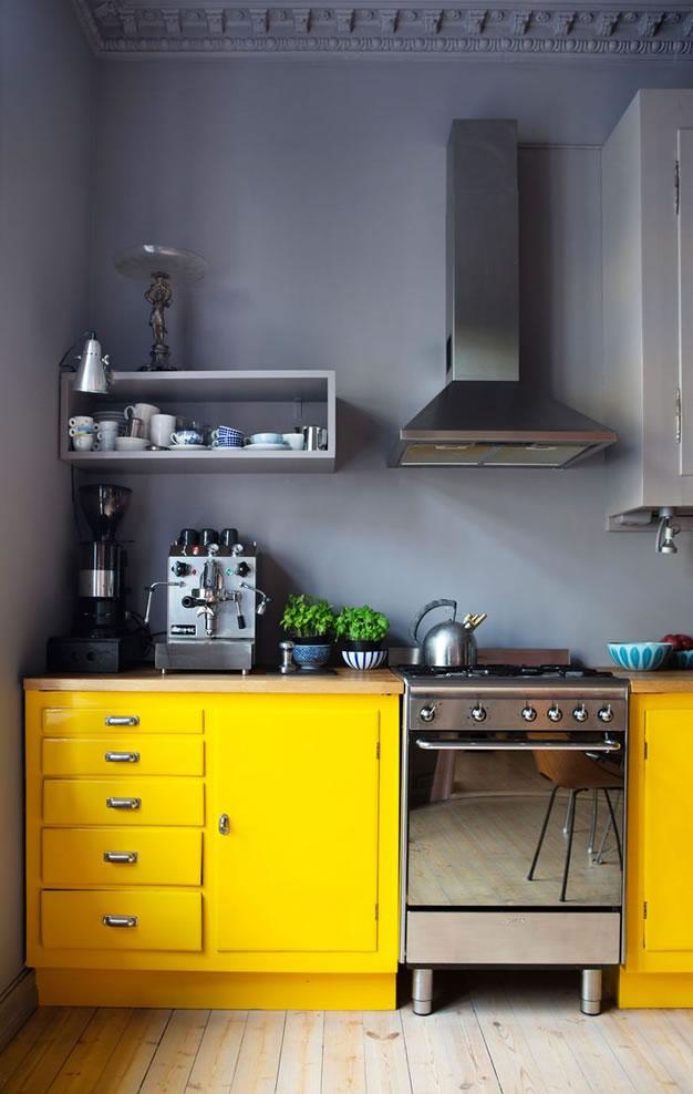 11 ideas para a adir un toque de amarillo a la decoraci n - Decoracion paredes cocinas modernas ...