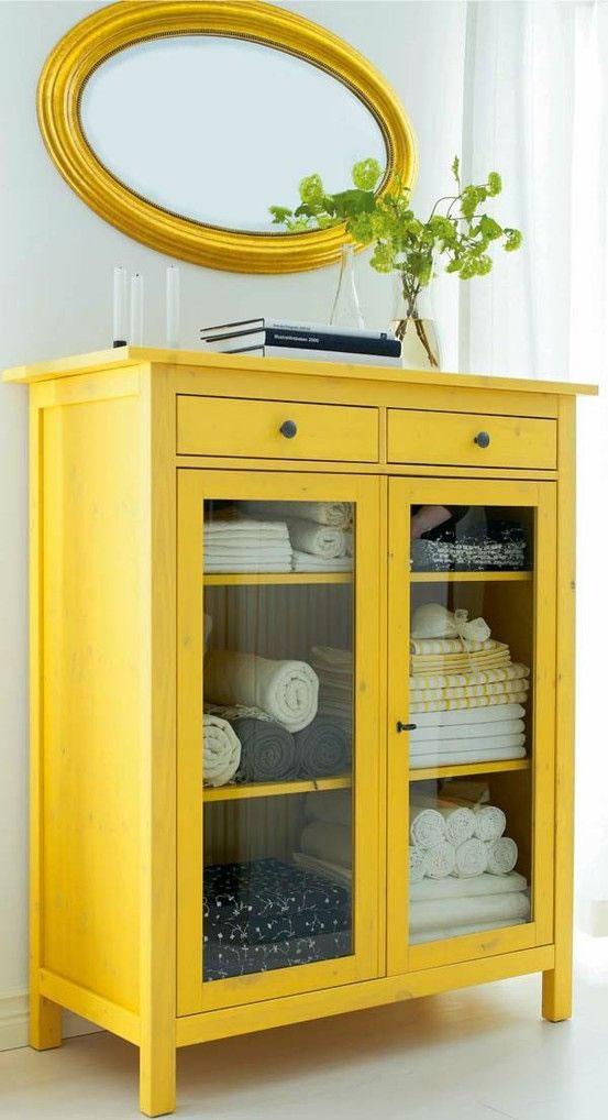 11 ideas para a adir un toque de amarillo a la decoraci n - Muebles pintados de colores ...
