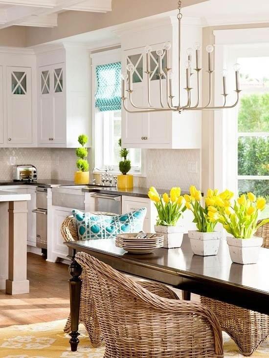 16 ideas para tener una cocina con detalles primaverales