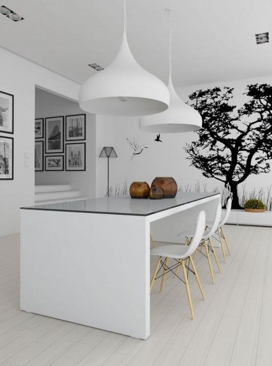 15 comedores de estilo minimalista para no perderse for Mesas minimalistas para comedor