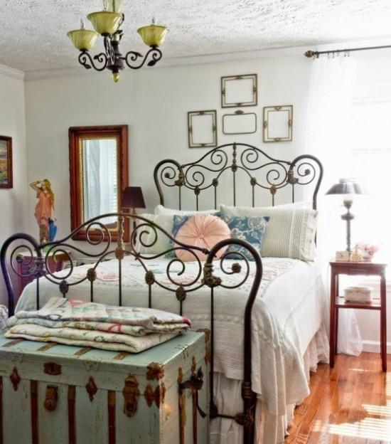 13 preciosas ideas para tener una habitaci n vintage - Dormitorio vintage chic ...