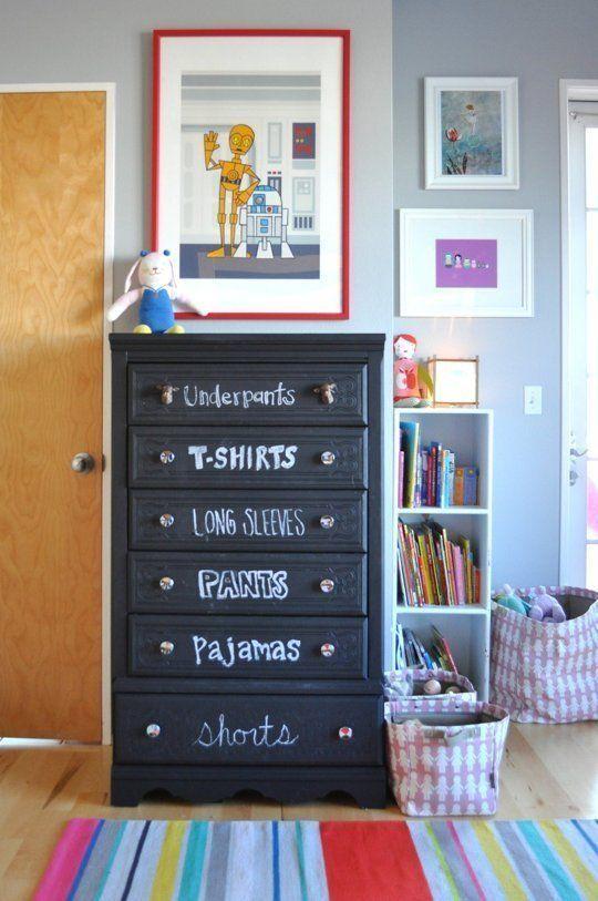 16 habitaciones infantiles decoradas con pintura pizarra