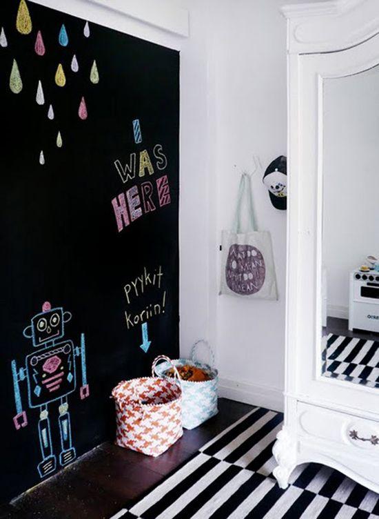16 habitaciones infantiles decoradas con pintura pizarra - Decoracion pintura dormitorios ...