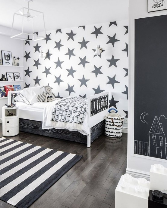 16 habitaciones infantiles decoradas con pintura pizarra - Bedroom ideas for 3 year old boy ...