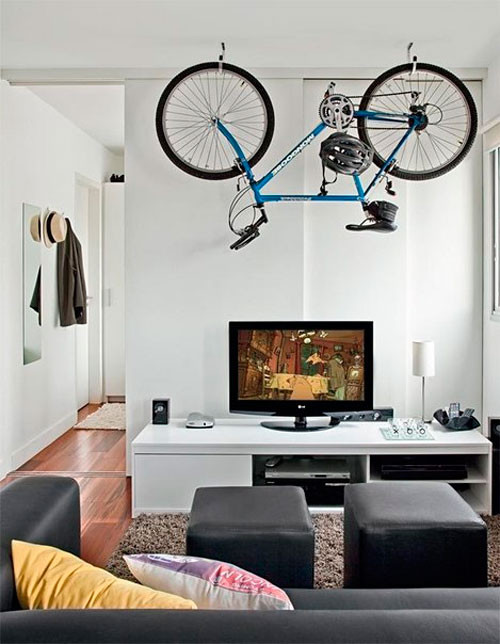 Guardar bici en piso pequeo perfect aparcador de for Como guardar la bici en un piso