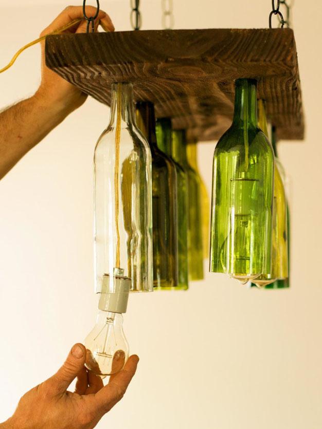 Decoraci n creativa y econ mica reciclando botellas - Decorar terrazas reciclando ...