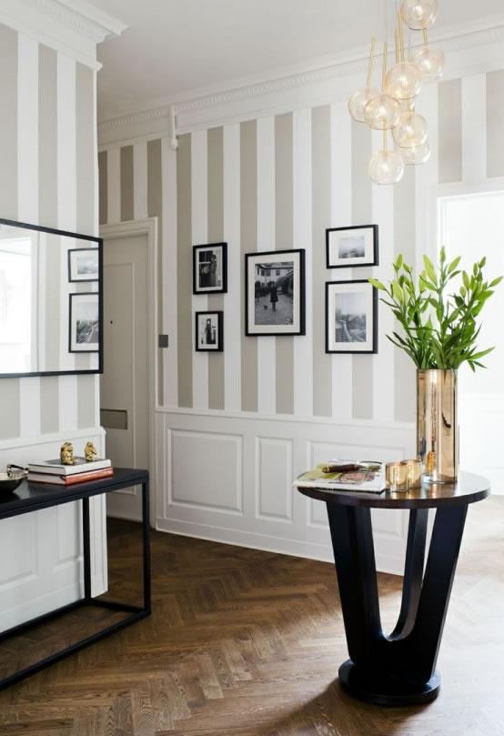 20 ideas para a adir rayas a la decoraci n - Paredes pintadas con rayas ...