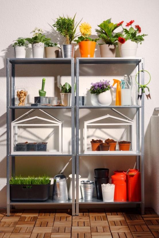 15 ideas para decorar con estanter as met licas - Ideas para estanterias ...