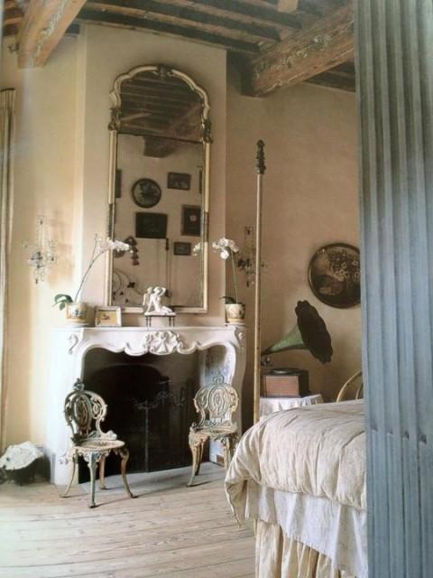 16 rom nticas habitaciones en estilo provenzal for Estilo rustico provenzal