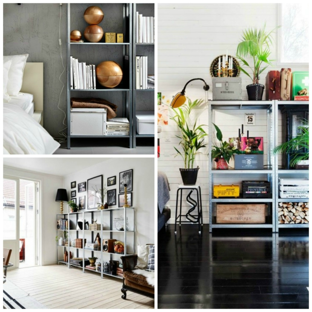 15 ideas para decorar con estanter as met licas - Estanterias metalicas de diseno ...