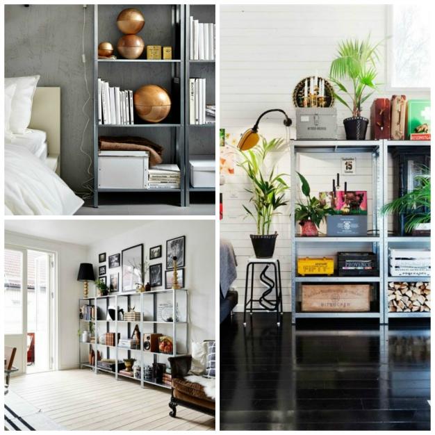 15 ideas para decorar con estanter as met licas - Decoracion de estanterias ...
