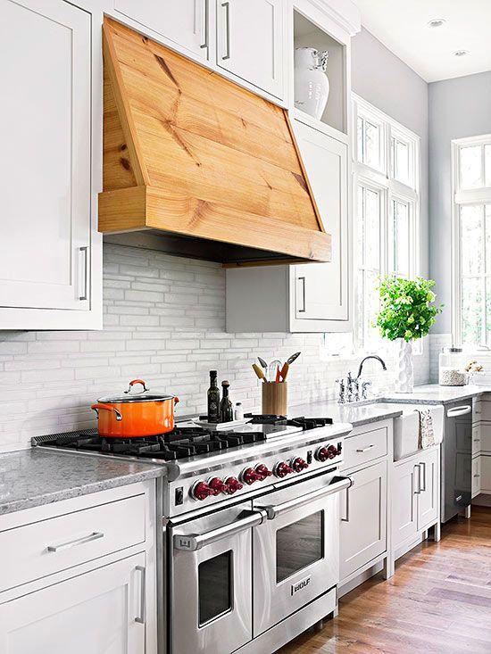 Ideas para intergrar las campanas extractoras a la decoraci n - Tipos de campanas extractoras para cocina ...