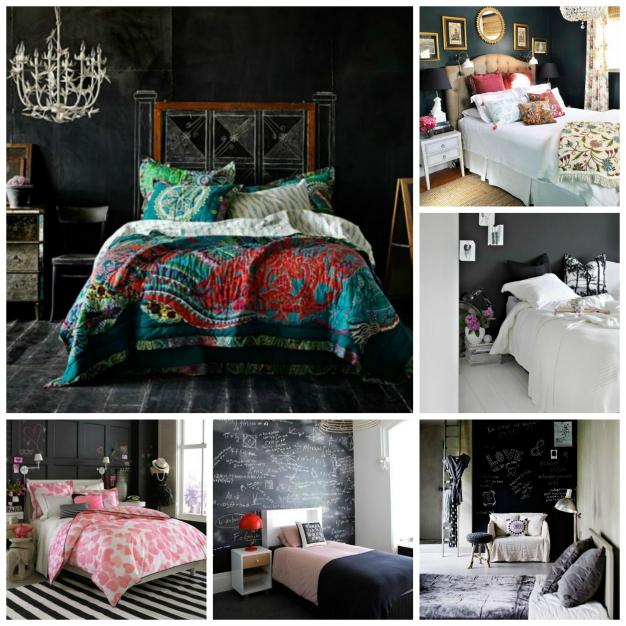 C mo decorar tu habitaci n con pintura pizarra for Cuarto color pintura pizarra