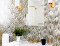 imagen 10 propuestas para empapelar el baño
