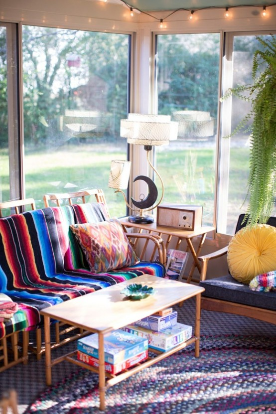 13 ideas para decorar estancias acristaladas en estilo boho for Ideas deco estilo