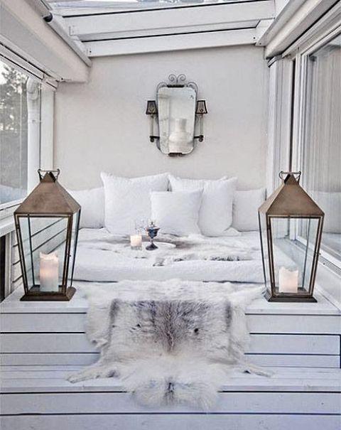 13 ideas para decorar terrazas acristaladas en estilo