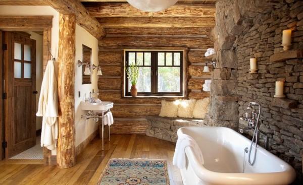Cómo usar materiales naturales en el cuarto de baño