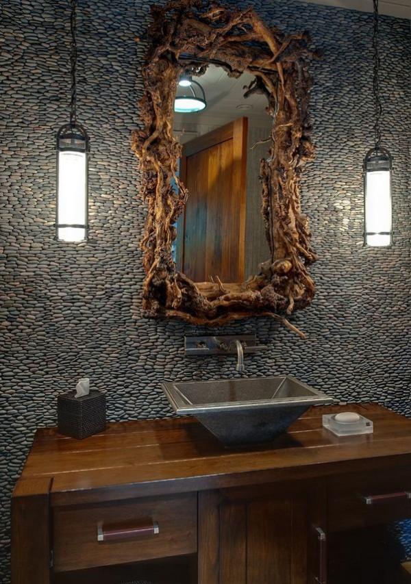 C mo usar materiales naturales en el cuarto de ba o for Materiales de bano