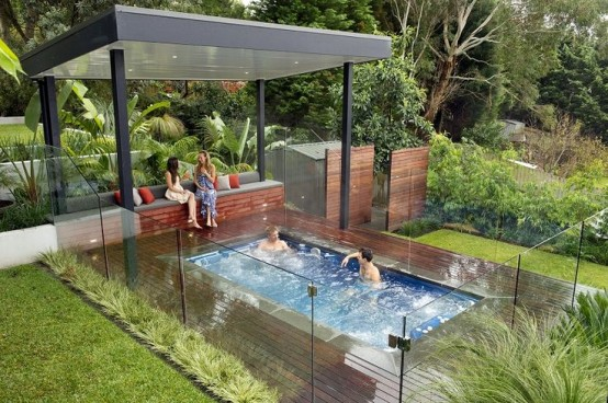15 ideas para tener un rinc n spa al aire libre for Idea paisajismo patio al aire libre