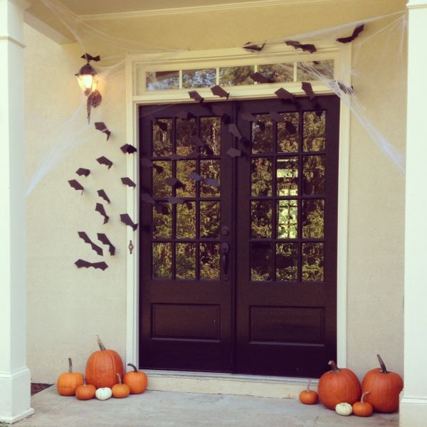 Decoraciones de halloween para la puerta de casa Decoracion para puertas