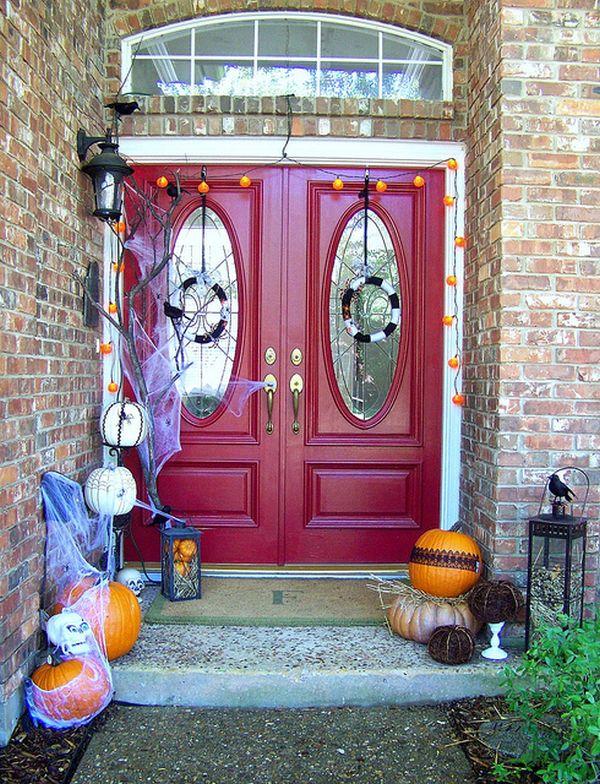Decoraciones de halloween para la puerta de casa for Decoracion halloween para casa