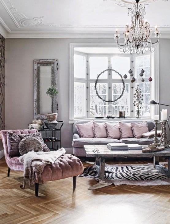 Decorar en gris y rosa una combinaci n de color muy actual - Colores que combinan con rosa ...