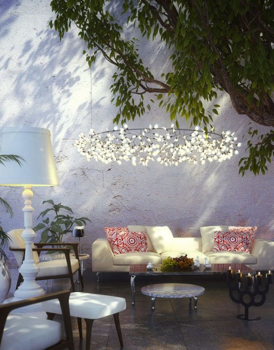 Ideas para iluminaci n de exteriores originales y creativas for Lamparas de exterior para terrazas