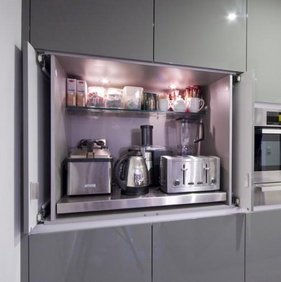 C mo organizar los peque os electrodom sticos en la cocina - Ideas para armarios empotrados pequenos ...