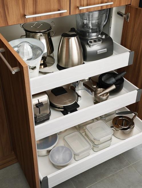 C mo organizar los peque os electrodom sticos en la cocina for Ideas para cocinas con poco espacio