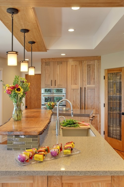 Originales decoraciones en madera para la cocina - Decoracion cortinas cocina ...