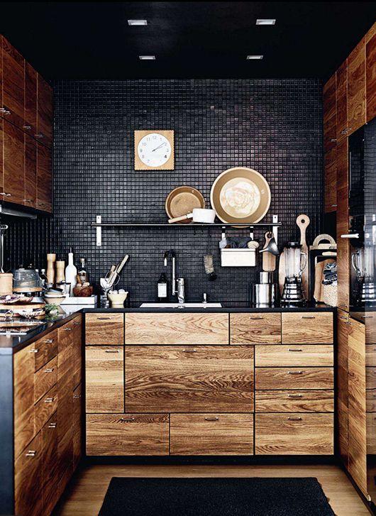 Originales decoraciones en madera para la cocina