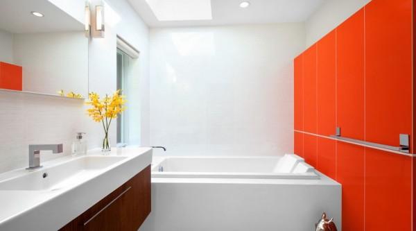 Ideas para decorar el ba o con colores llamativos - Colores para el bano ...