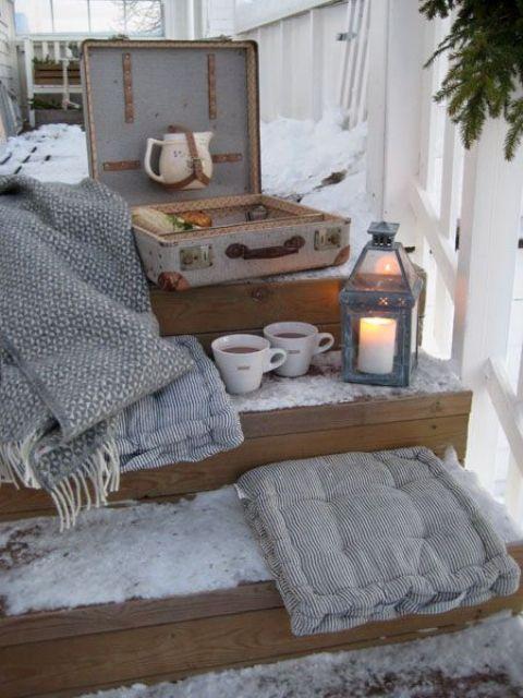18 propuestas de porches en estilo escandinavo - Decorar pared porche ...