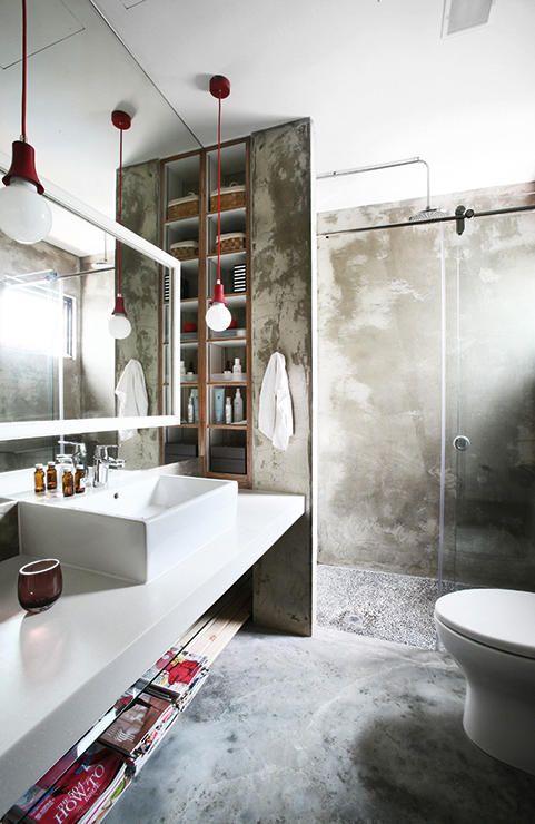 Cuartos de baño industriales, vintage y minimalistas