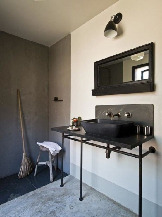 Cuartos de ba o industriales vintage y minimalistas Bano estilo industrial