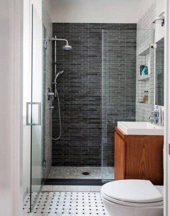 Baños Elegantes Pequenos:Small Bathroom Shower Design Ideas