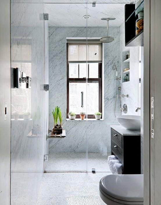 Baños pequeños y muy elegantes