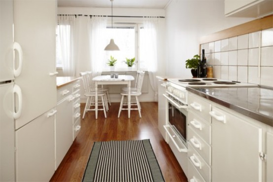 29 ideas para decorar con blanco sobre blanco - Luz para cocinas ...