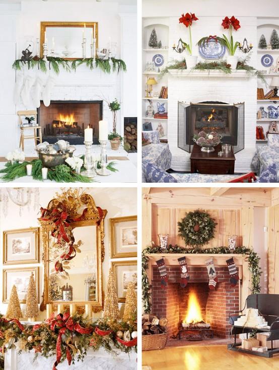 Ideas para decorar la chimenea en navidad - Como decorar una chimenea ...
