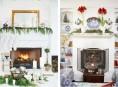 imagen Ideas para decorar la chimenea en Navidad