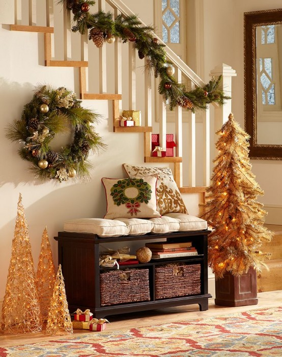 Ideas para decorar tu recibidor esta navidad for Decoraciones para navidad interiores