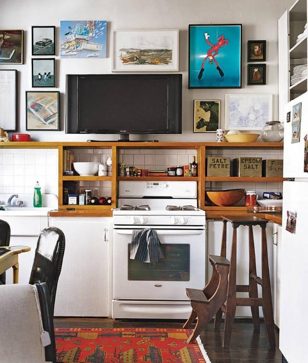 7 ideas ingeniosas para cocinas peque as - Televisor para cocina ...