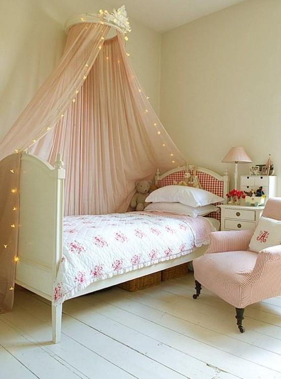 Bellas habitaciones infantiles en estilo shabby chic - Habitaciones infantiles pequenos espacios ...